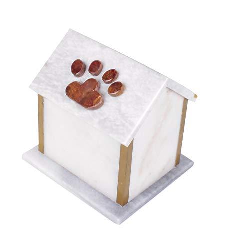 Pet Cremation Urn for Ashes, Marble Dog House Pet Urn - U.K Memorial ()