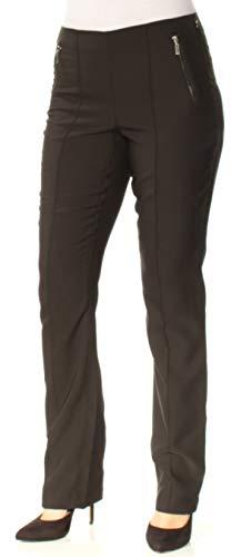 INC Womens Straight Leg Curvy Fit Dress Pants Black 4