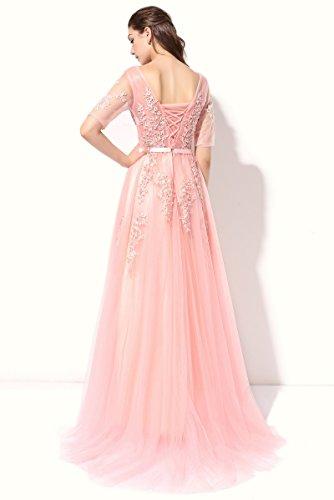 A V Grün Ausschnitt Langes Abendkleid mit Konigsblau Schnürung Aiyana Kleid Damen Elegantes Perlen Schulterfrei Linie 0RtwWPE8q