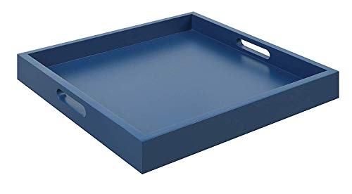 Convenience Concepts Palm Beach Serving Tray, - Mirrors Navy Blue Brass Bathroom