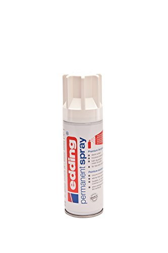 edding 4-5200922 Permanent Spray 5200, RAL 9016, 200 ml, verkehrsweiß seidenmatt