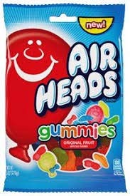 Airheads Fruit Flavored Gummies Candy, 6 Ounce Bag