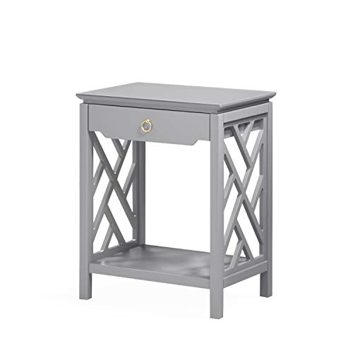 Source One Tulane Gray Chippendale-style Nightstand