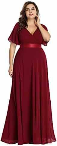 f29bdec06d5 Ever-Pretty Women s Short Sleeve V-Neck Long Evening Dress 09890
