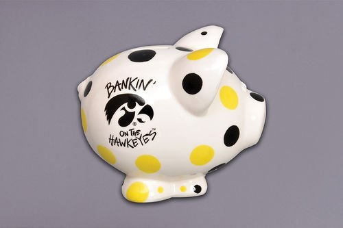 Iowa Bank Piggy Hawkeyes (Ceramic Collegiate Piggy Bank (Iowa Hawkeyes))