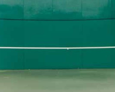 Tennis Court Accessories - Bakko Backboards - 8' x 12' Economy Flat Series by Har-Tru