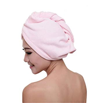 1x Microfibre After Shower Hair Drying Wrap Towel Quick Dry Hair Hat Cap