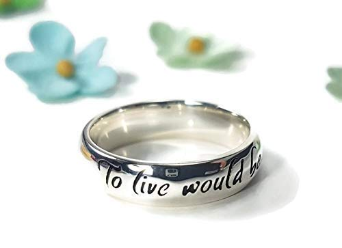 Peter Pan Jewellery - Peter Pan Jewelry Peter Pan Ring Tinkerbell Ring J.M Barrie Quote Adventure Jewelry Adventure Quote Sterling Silver Ring