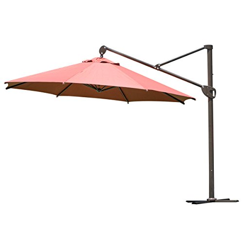 Abba Patio Offset Patio Umbrella 11-Feet Hanging Cantilev...