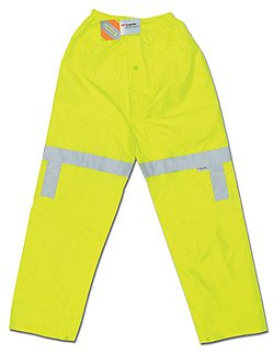 River City (MCR Safety Garments) 500RPWX2 - Scotchlite™ Luminator High-Visibility Rain Pants - 2X-Large, Green, Polyester/Polyurethane