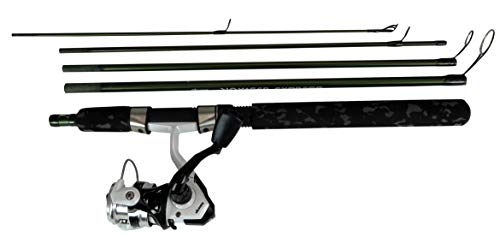 Okuma Fishing Tackle- VSE665M-30 Voyager Express Travel Kit Spinning Combo, Forest - Rod Trout Travel