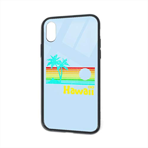 Shock-Absorption Hawaii- Glass Back Phone Case for iPhone X iPhone Xs -