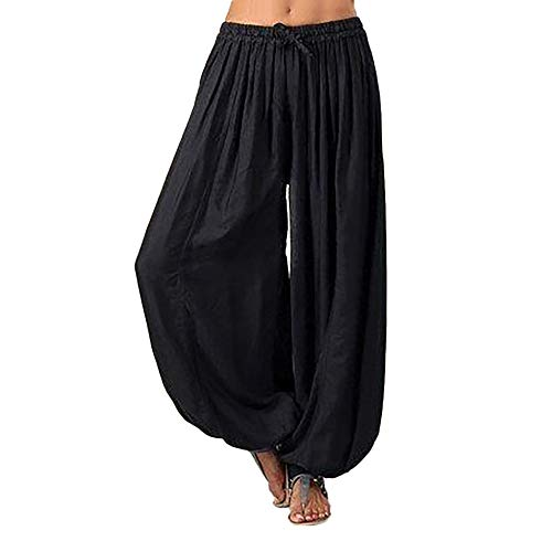 QueenMMWomen Pants Women Plus Size Solid Color Casual Loose Harem Pants Yoga Pants ()