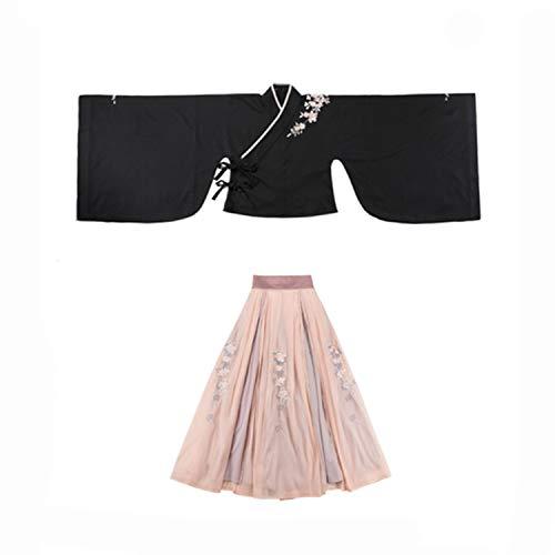 Hanfu Women Embroidery Dance Costume Black Rave