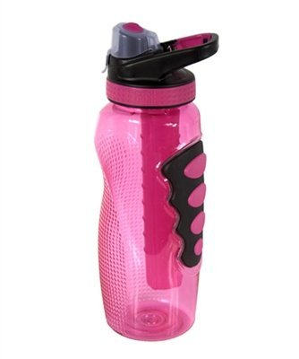 COOL GEAR 32 fl.oz Water Bottle with Freezer Gel Pink