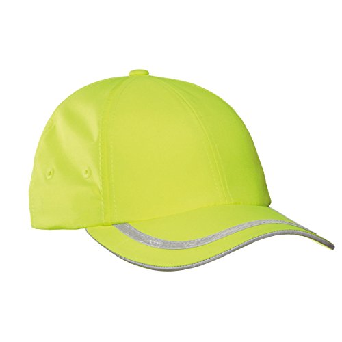 Port Authority Safety Cap, Safety Yellow/ Reflective, (Panel Mid Profile Sandwich Cap)