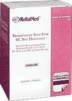 ReliaMed Sterile Latex-Free Transparent Thin Film I.V. Site Adhesive Dressing 2-3/8 x 2-3/4 [Box of 100]
