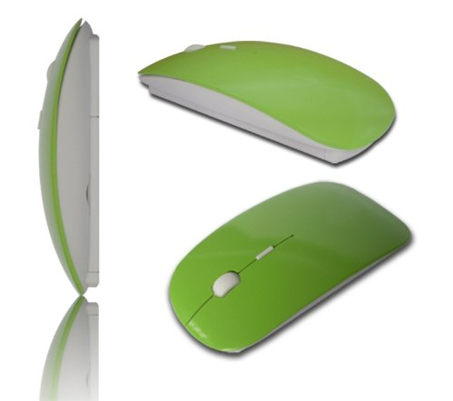 Domire Wireless Optical Mouse Mice For PC Computer Laptop (Green)