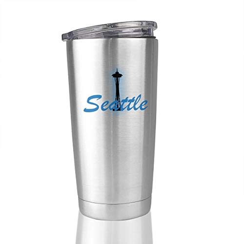 20oz Stainless Steel Tumbler City Seattle Vacuum Insulated Coffee Mug Novelty Gift]()