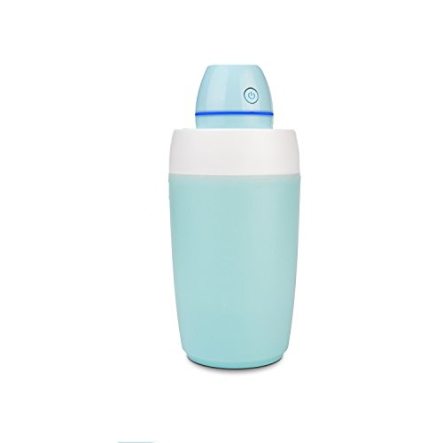 StarryBay Portable Mini Clean Cool Mist Humidifier/UltraQuiet Desk Personal Air Humidifier with LED/ Perfect for Travel, Home, Office,Bedroom or Car/Silent humidifiers for Allergy Baby (Blue)