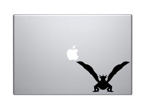 "Dragon Silhouette Front View - 6"" Black Vinyl Decal Sticker Car Macbook Laptop"