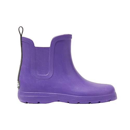 totes Kid's Cirrus Chelsea Ankle Rain Boot, Paisley Purple, ()
