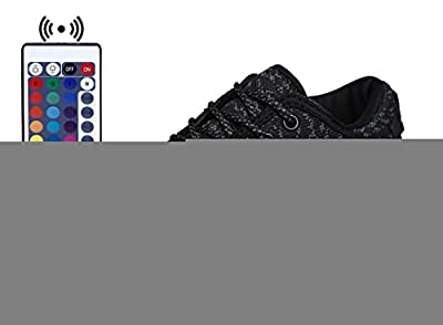 WaltZon Upgraded USB Charging LED Light Up Fashion Sports Flashing Sneaker Shoes for Kids Boys Girls(Toddler,Litter kid,Big kid).