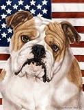 "Bulldog by Tamara Burnett Patriotic II House Dog Breed Flag 28"" x 40"" Review"