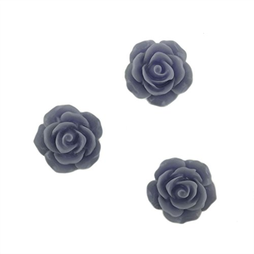 [Mememall Fashion Beautiful Rose Flower Flat Back Cabochon Bead Craft Jewelry 12pc] (Pocahontas Movie Costume)