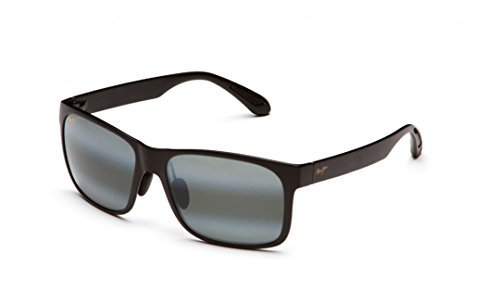 - Maui Jim Red Sands 432-2M | Polarized Matte Black Rectangular Frame Sunglasses, Patented PolarizedPlus2 Lens Technology
