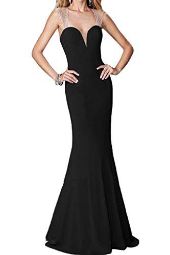 ivyd ressing Mujer favorita trager con piedras rueckenfrei funda de línea vestido de fiesta Prom vestido fijo para vestido de noche negro