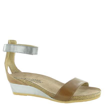 Naot Women's Pixie Wedge Sandal, Maple Brown Combo, 38 EU/7 M US