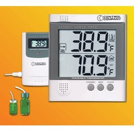 Control Traceable Radio-Signal Remote Thermometer with Mo...