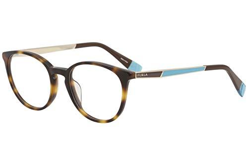 Furla Womens Eyeglasses VFU088 VFU/088 09AJ Tortoise Full Rim Optical Frame 50mm