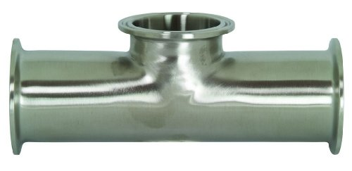 Outlet Tee 2 Inch Tubing - Dixon B7MPS-R200 Stainless Steel 316L Sanitary Fitting, Short Outlet Clamp Tee, 2