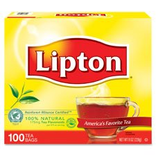 Lipton-Unilever LIPTJL00291 Tea Bags, Natural, Individual,1.25 oz Packets, 100-BX