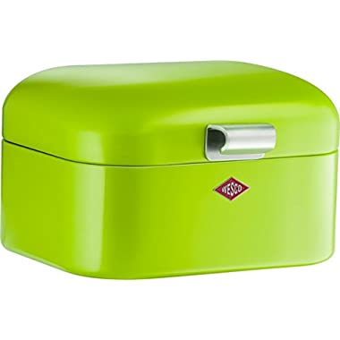Wesco Mini Grandy Steel Bread Box for Kitchen/Storage Container, Lime Green