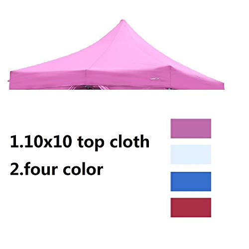 Leisurelife Canopy Party Tent Replacement (10X10 Top Cloth), White Pink Blue ()