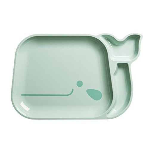 Rice Whale Sectional Kids Melamine Plate