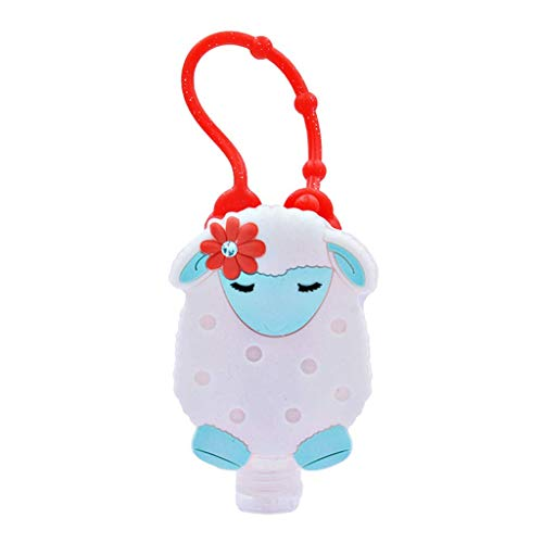 1 PC 30ML Disposable Mini Hand Sanitizer Embossed Cute Cartoon Sheep Rhinestone Silicone Cover No Clean Antibacteria Travel Portable Safe Gel
