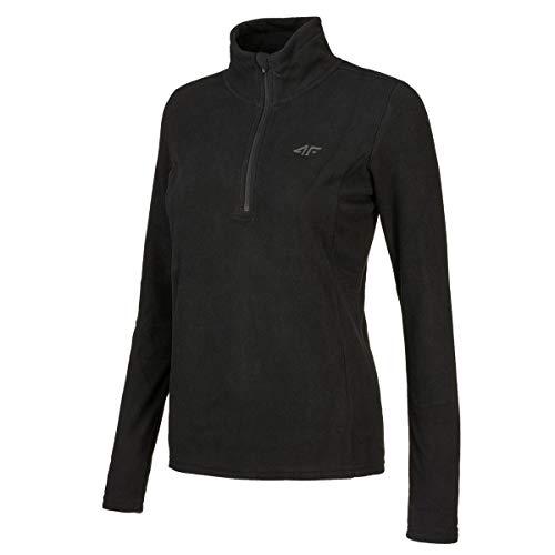 4F Women Clothing Sweatshirt Fleece Running Underwear Gym Black H4Z19-BIDP001