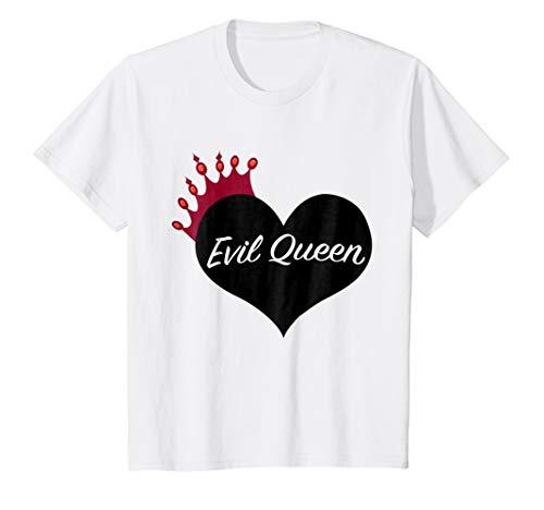 Kids Evil Queen Heart and Crown Halloween Costume