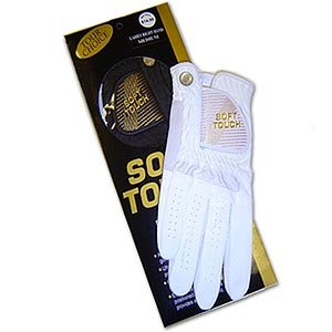 Soft Touch Microfiber Golf Glove White Ladies LH Large