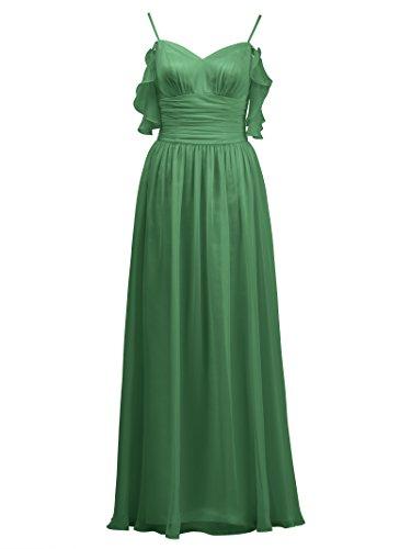 Gown Alicepub Bridesmaid Spaghetti Line Ball Dress Evening A Chiffon Dress Long Emerald Prom P0r0c1tqw