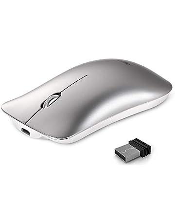 Ratón inalámbrico, Inphic Slim Silent Click Recargable 2.4G Ratones inalámbricos 1600DPI Mini óptico portátil