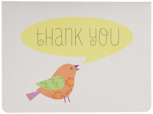 C.R. Gibson Thank You Notes, Set of 10 Boxed Cards With Envelopes -Lil' Birdie (Birdie Greeting Cards)
