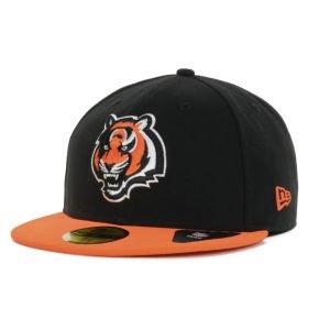 心配浮浪者ボトルネックNew Era Cincinnati Bengals NFL Black Team 59 fiftyキャップ
