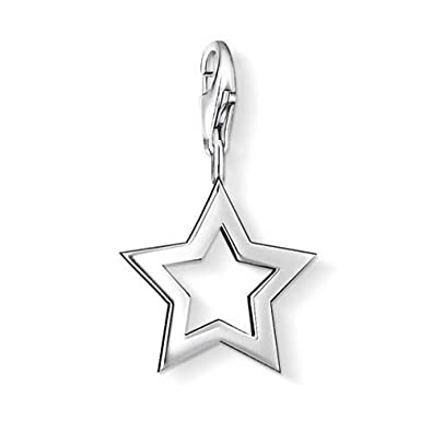 Thomas Sabo Women-Charm Pendant Star Charm Club 925 Sterling silver 0857-001-12 jXy5ttk70