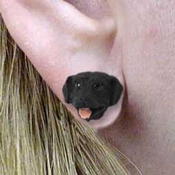 Labrador Retriever Black Earrings Post (Set of 3 Pairs)