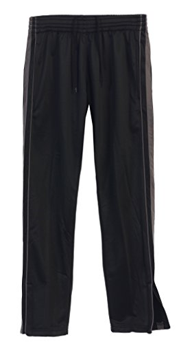 Gioberti Men's Athletic Track Pants, Black Charcoal, Large by Gioberti
